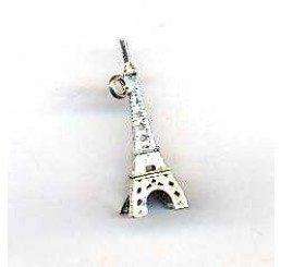 Pendente Tour Eiffel in argento cm . 3