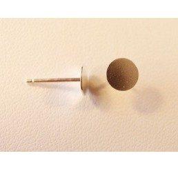 perno con piattina mm. 6 - argento 925 - conf 2 pz