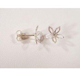perno con coppetta a fiore mm. 10 - ag 925 - conf 2 pz