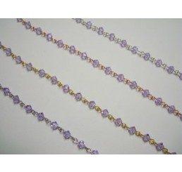 catena con cristalli swarovski mm 4 - violet