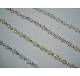 catena con cristalli swarovski mm 4 - crystal moonlight