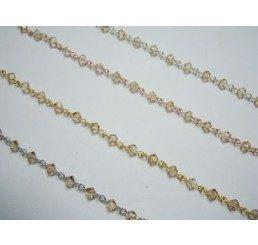 catena con cristalli swarovski mm 4 - crystal golden shadow