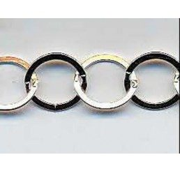 catena con maglie circolari schiacciate mm. 10