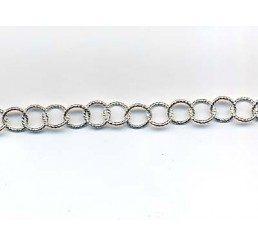 catena maglia circolare rigata mm. 7,30