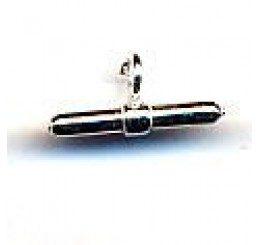 chiusura per caucciù mm 2,5 anellino ag. 925 - conf. 1 pz