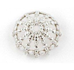 coppetta traforata mm. 12 - argento 925 - conf. 2 pz.