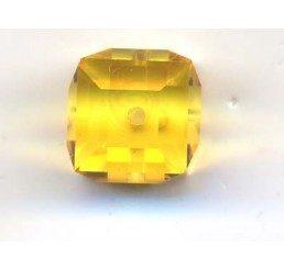 swarovski - cubo light topaz mm. 8