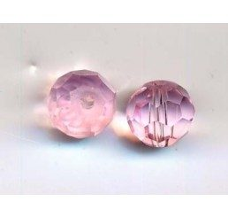 pallina sfaccettata mm. 8 rosa