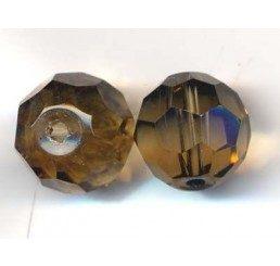 pallina sfaccettata mm. 12 grigia