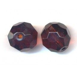 pallina sfaccettata mm. 14 marrone