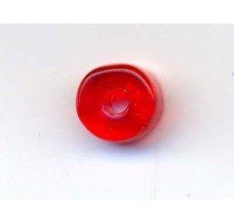 mezzo cilindro in vetro - rosso