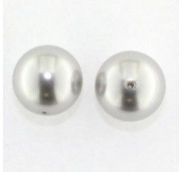 perla swarovski mm  14 - light grey