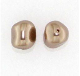 swarovski - perla irregolare mm. 14 bronze