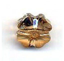 quadrifoglio swarovski crystal golden shadow  mm. 12