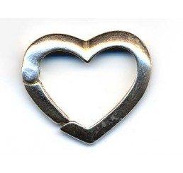 chiusura a scatto a forma di cuore - ag 925 - conf. 1 pz
