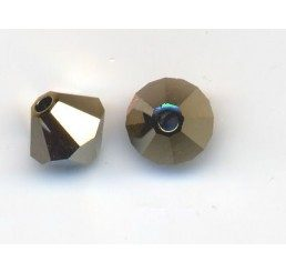 swarovski - bi-cono dorado 2x mm.5