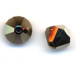 swarovski - bi-cono crystal dorado2x mm. 6