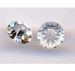 swarovski - bicono schiacciato crystal mm. 6