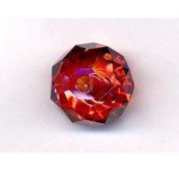 swarovski - briolette mm. 12 - red magma
