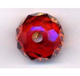 swarovski - briolette mm. 18 - red magma