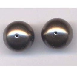 perla swarovski mm. 12 - brown