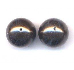 perla swarovski mm. 12 - deep brown