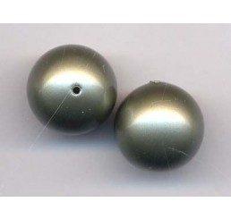 perla swarovski mm. 10 - powder green