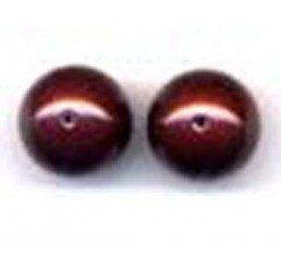 perla swarovski mm. 14 - maroon