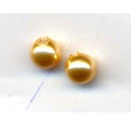 perla swarovski ad un foro mm. 4 - gold
