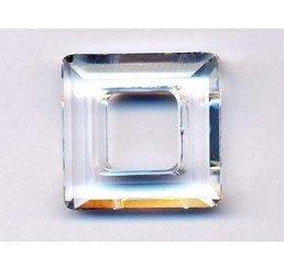 swarovski - square ring mm. 14 crystal
