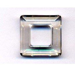 swarovski - square ring mm. 14 crystal ssha