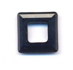 swarovski - square ring mm. 14 jet