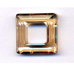 swarovski - square ring mm. 14 crystal gsha