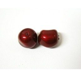 swarovski - perla irregolare mm. 8 bordeaux