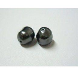 swarovski - perla irregolare mm. 10 dark grey