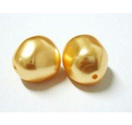 swarovski - perla irregolare mm. 12 gold
