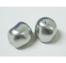 swarovski - perla irregolare mm. 14 light grey