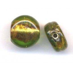 pasticca glitter -trasparente verde/giallo