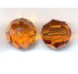swarovski - perlina topaz mm.10