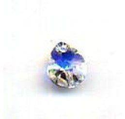 swarovski - pendente goccia 8x6 mm - crystal ab