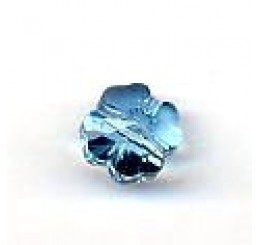 quadrifoglio swarovski aquamarine mm. 8