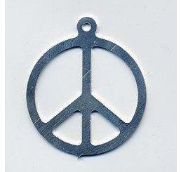 pendente in argento a forma di simbolo della pace