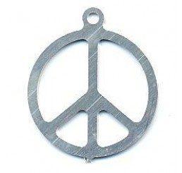 pendente in argento simbolo della pace