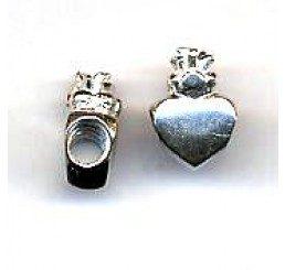 distanziatore per caucciù mm. 4 a forma di cuore con corona